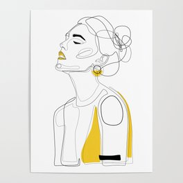Yellow Lip Poster