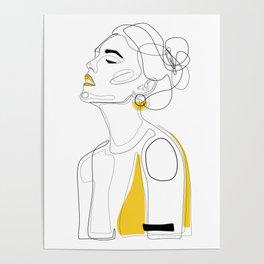 Yellow Lip Poster