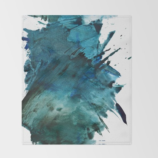 Scenic Route [2]: a pretty, minimal abstract piece in blue and green by Alyssa Hamilton Art by blushingbrushstudio