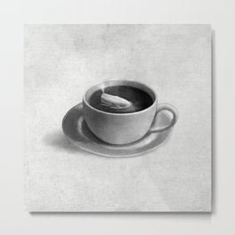 Whale in a Teacup Metal Print