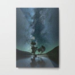 Night Sky over Rattlesnake Lake, Washingon Metal Print