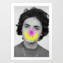 Clowning Into Sadness Art Print