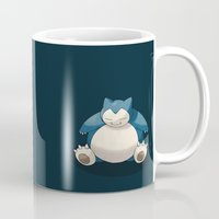 snorlax Mugs featuring Snorlax by Donutwrangler