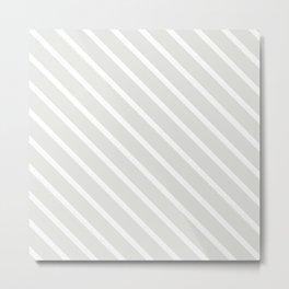 Ice Diagonal Stripes Metal Print