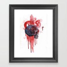 Bloody Skull Framed Art Print