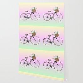 Bicycle Daisies Wallpaper