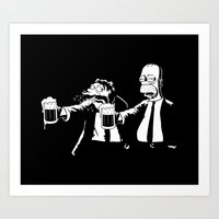 simpson Art Prints featuring Pulp Simpson by Stationjack