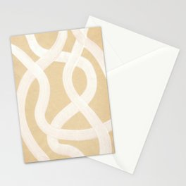 Abstract neutral beige and white stripes Stationery Cards
