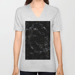black marble abstract painting Unisex V-Neck