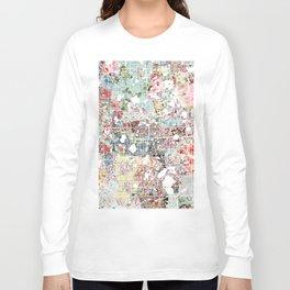 Orlando map landscape Long Sleeve T-shirt