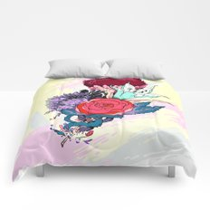 Chrysanth Wisteria & Lily - & Rose  Comforters