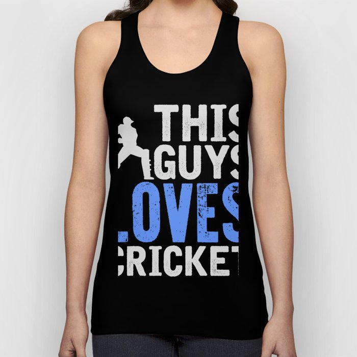 This Guy Loves Cricket T-Shirt Awesome Cricket Tee Unisex Tank Top