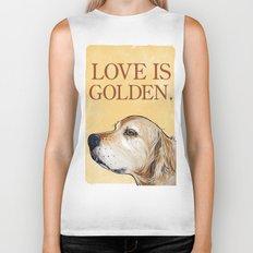 Love is Golden Biker Tank