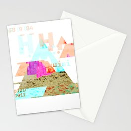 GLITCH NATURE #91: Lying down in the heat, a pink bucket appeared. Stationery Cards