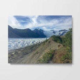 Trail To An Alaskan Glacier Metal Print