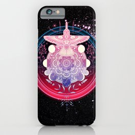 Hummingbird Mandala iPhone Case