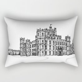 Highclere Castle- Architectural Illustration  Rectangular Pillow