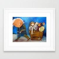 trip Framed Art Prints featuring Trip by Monica Blatton