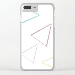 Triangle geometric origami Clear iPhone Case