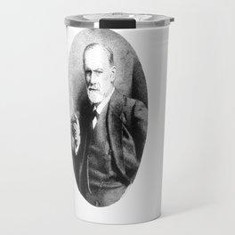 Sigmund Freud (Pen Pointillism) Travel Mug