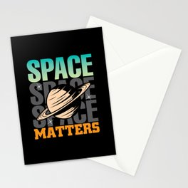 Space Matters physic science shirt design Stationery Cards