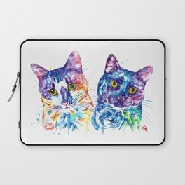 2 Kitties Hanging Out Laptop Sleeve