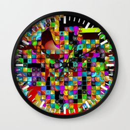 """Madrone Candea - Abstract 0003 """"Marble Factory Before Mosaic"""" Wall Clock"""