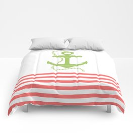 AFE Green Nautical Anchor Comforters