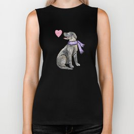 Watercolour Irish Wolfhound Biker Tank