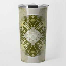 Microchip Mandala in Gold Travel Mug