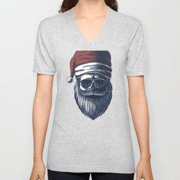 Funny Santa Animals Christmas Skull Christmas Animal Unisex V-Neck