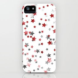 Metallic silver copper stars iPhone Case