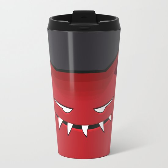 Evil Monster With Pointy Ears Metal Travel Mug