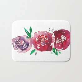 Three Red Christchurch Roses Bath Mat