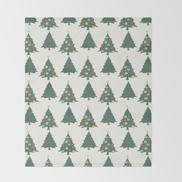 Christmas tree pattern Throw Blanket