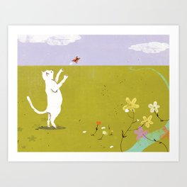 First, I'll Catch This Butterfly Art Print