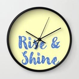 R&S Yellow & Blue Wall Clock