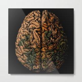 Always On My Mind - Brain Traveling Wanderlust Love Travel Metal Print