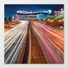 Stadium at Mile High - Denver Colorado - Square Format Canvas Print