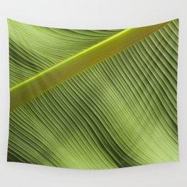 """Green Spring Big Leaf"" Wall Tapestry"