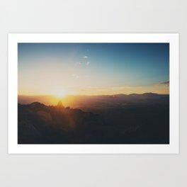 sunrise on Mt Woodson ... Art Print