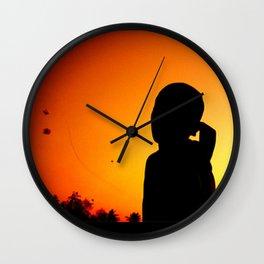 A Kid and His Kite Wall Clock