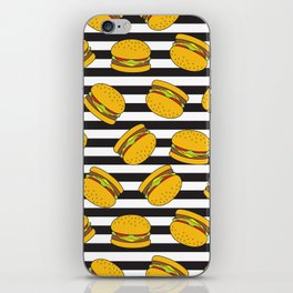 Burger Stripes By Everett Co iPhone Skin
