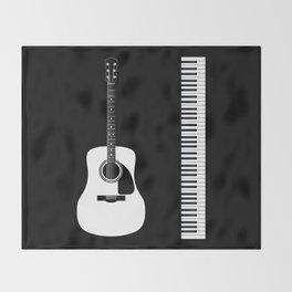 Guitar Piano Duo Throw Blanket