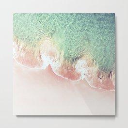 Scalloped Coral Beach And Seashore Metal Print