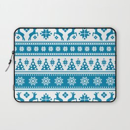 Christmas Holiday Nordic Pattern Cozy Laptop Sleeve