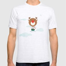 Day 13/25 Advent - Air Rudolph SMALL Mens Fitted Tee Ash Grey