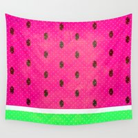watermelon Wall Tapestries featuring Watermelon by M Studio