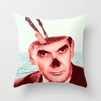 butcher billy Throw Pillows featuring Butcher by Dorian Danielsen