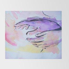 Hands Throw Blanket